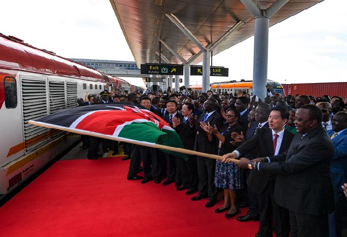Kenya launches freight service on Chinese-built extended railway that connects hinterland
